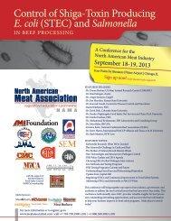 Control of Shiga-Toxin Producing E coli (STEC) and Salmonella