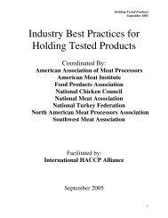 Industry Best Practices for Holding Tested Products