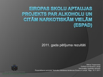 2011 gada pētījuma rezultāti