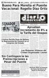 Bueno Para Morelia el Puente Vacacional Rogelio Díaz Ortiz