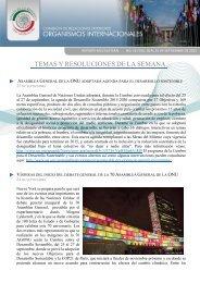 TEMAS Y RESOLUCIONES DE LA SEMANA