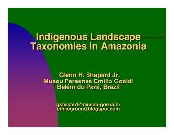 Indigenous Landscape Taxonomies in Amazonia