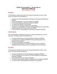NAGAP Executive Committee Job Descriptions