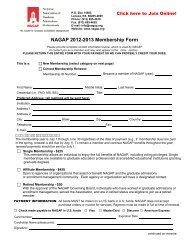 NAGAP 2012-2013 Membership Form
