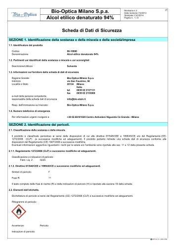 Bio-Optica Milano S.p.a Alcol etilico denaturato 94%