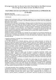 FACTORES SOCIO-CULTURALES Y ÉTNICOS EN LA OPRESIÓN DE LA MUJER