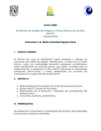 Curso-Taller El Sistema de Análisis de Peligros y Puntos Críticos de ...
