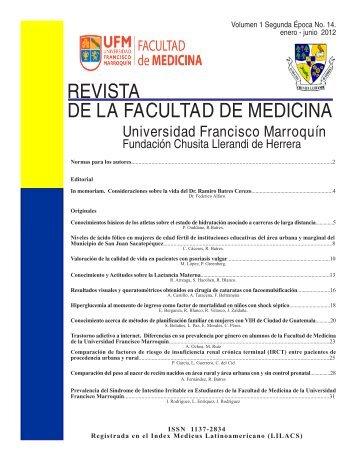 REVISTA DE LA FACULTAD DE MEDICINA