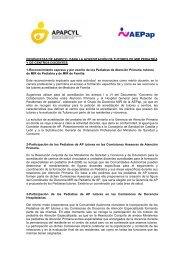 Propuesta de APAPCyL para la acreditación - Asociación Española ...