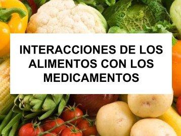 ALIMENTOS CON LOS MEDICAMENTOS