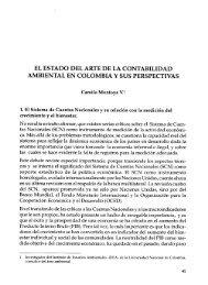 el estado del arte de la contabilidad ambiental en colombia y sus ...