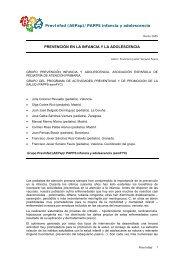 Prevención en la Infancia y la Adolescencia - Asociación Española ...