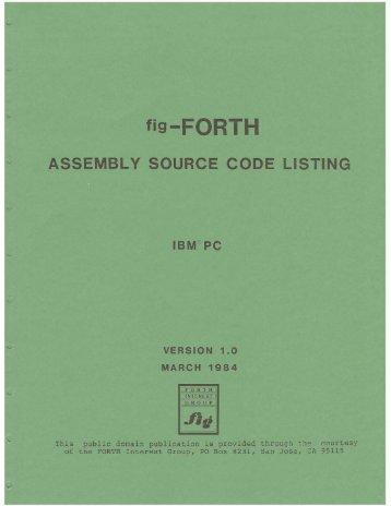 ASSEMBLY SOURCE CODE LISTING - Forth Interest Group
