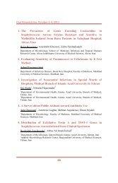 Oral Presentation, October 2-4, 2012 1. The Prevalence of Genes ...