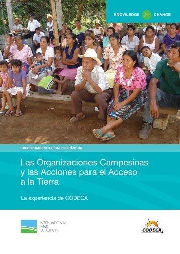 Las Organizaciones Campesinas y las Acciones para el Acceso a la Tierra