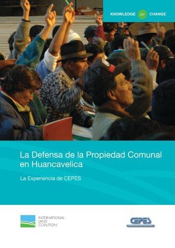 La Defensa de la Propiedad Comunal en Huancavelica