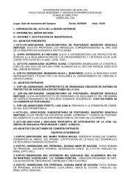 Orden del día de la Sesión Ordinaria del 10-09-2009 - fices