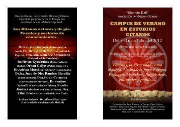 CAMPUS DE VERANO EN ESTUDIOS GITANOS