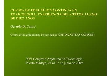 CURSOS DE EDUCACION CONTINUA EN TOXICOLOGIA ... - ATA
