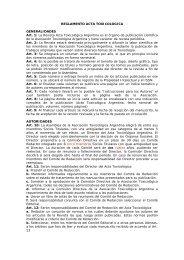 REGLAMENTO ACTA TOXICOLOGICA - ATA