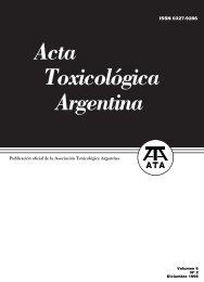 Acta Toxicológica Argentina Asociación Toxicológica Argentina