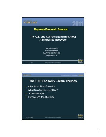 US Forecast - Bay Area Council Economic Institute
