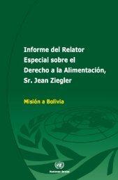 Informe del Relator Especial sobre el derecho a la alimentación Sr Jean Ziegler