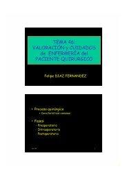 TEMA 46: VALORACIÓN y CUIDADOS de ENFERMERÍA del ...
