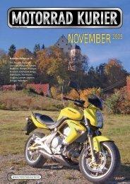 NOVEMBER2005 - Motorrad-Kurier