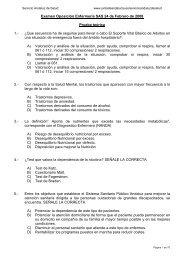Examen Oposición Enfermería 24 febrero 2008 - Colegio ...