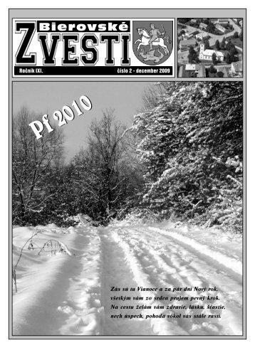 Bierovské zvesti - december 2009 - Obec Veľké Bierovce