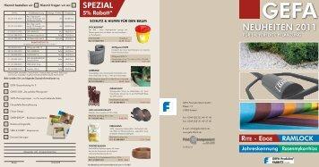 die Neuheiten der GEFA pdf  - GEFA Produkte Fabritz GmbH