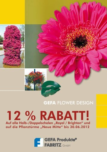 Flower Design Rabattaktion 2012 als pdf