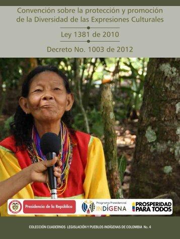 Ley 1381 - Vicepresidencia de la República de Colombia