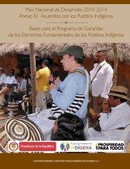 Plan Nacional de Desarrollo 2010-2014 Anexo IV. Acuerdos con los ...