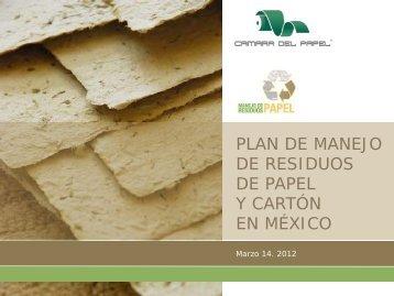 DE RESIDUOS DE PAPEL Y CARTÓN EN MÉXICO