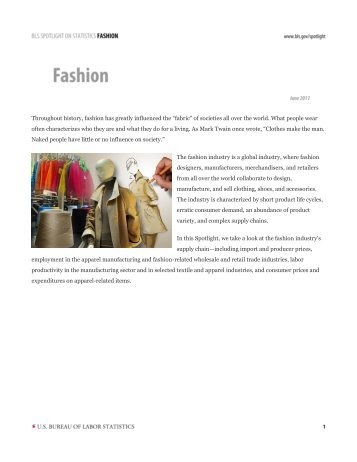 Throughout History, fashion Has Greatly Influenced The
