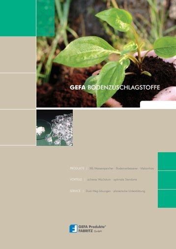 GEFA BODENZUSCHLAGSTOFFE - GEFA Produkte Fabritz GmbH