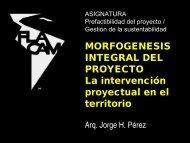 MORFOGENESIS INTEGRAL DEL PROYECTO La intervención proyectual en el territorio