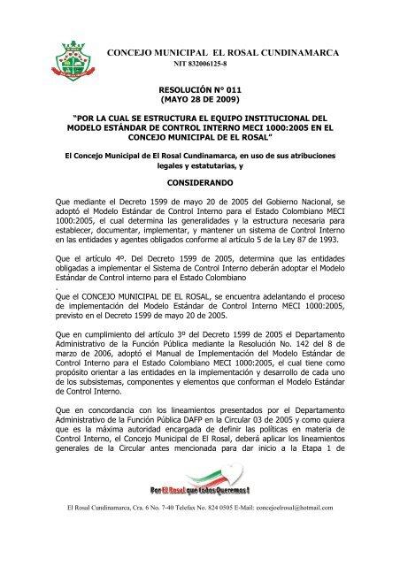 Concejo Municipal El Rosal Cundinamarca