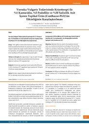 Verruka Vulgaris Tedavisinde Kriyoterapi ile %1 ... - Dermatoz.org
