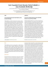 ilerleyici zamana anormallikler fibrosing folliculitis bilinmeyen foliküliti