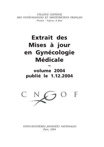 Extrait des Mises à jour en Gynécologie Médicale