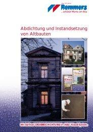 Abdichtung und Instandsetzung von Altbauten