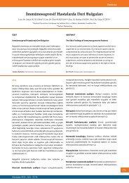 İmmünosupresif Hastalarda Deri Bulguları - Dermatoz.org