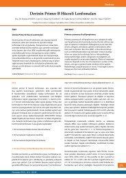 Derinin Primer B Hücreli Lenfomaları - Dermatoz.org