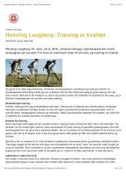 Henning Langberg Træning er kvalitet