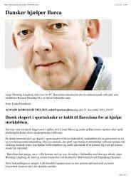 Dansker hjælper Barca