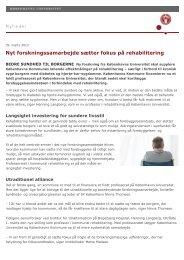 Nyt forskningssamarbejde sætter fokus på rehabilitering