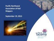 Association of Rail Shippers September 19 2013